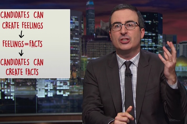 John Oliver Hilariously Deconstructs The RNC's Frightening Feelings-Based Propaganda Machine