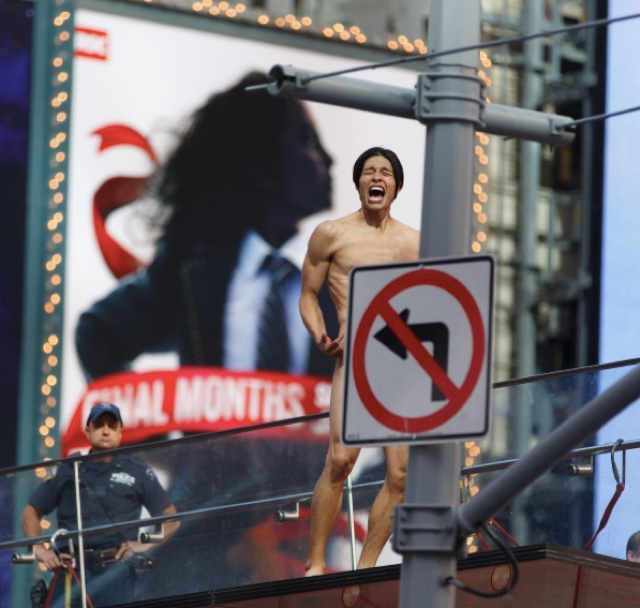 Naked Man Who Brought Times Square To Standstill Has Been Charged