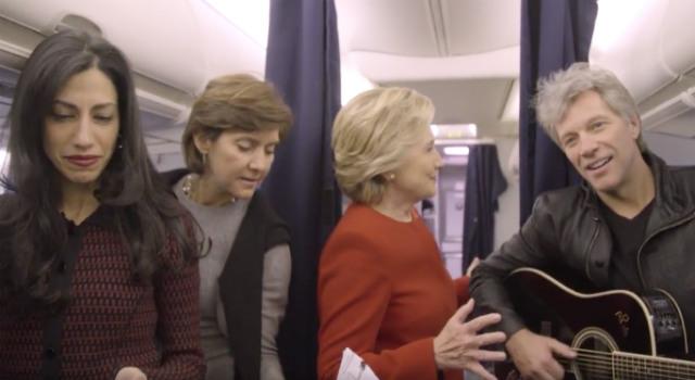 Hillary Clinton, Bon Jovi & The Clinton Team Do The Mannequin Challenge