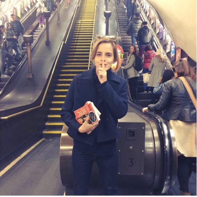 Watch Emma Watson Hide Books Around NYC's Subway System