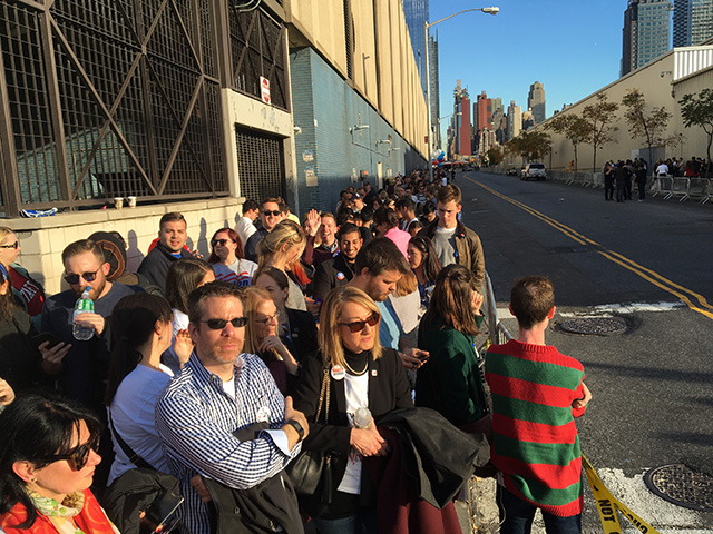 Photos: Lines For Hillary Clinton's Election Night Party Are Predictably Long