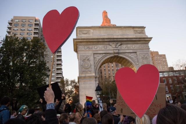 Photos: Anti-Trump 'Love Rally' Fills Washington Square Park