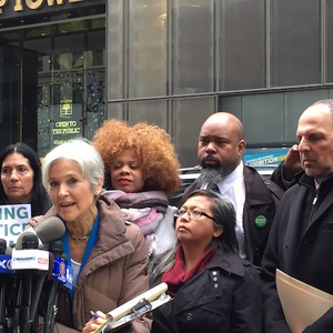 Jill Stein Rallies For Recount Outside Trump Tower: 'What Is He So Afraid Of?'
