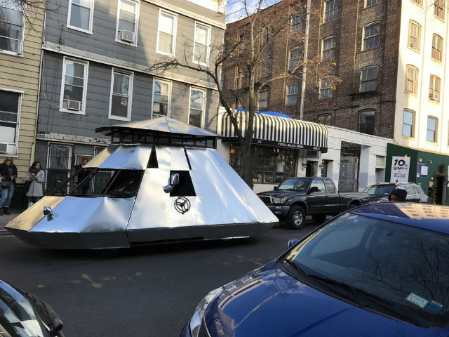 Owner Of Mysterious Silver Spaceship Tank Revealed To Be Brooklyn Dad, Of Course
