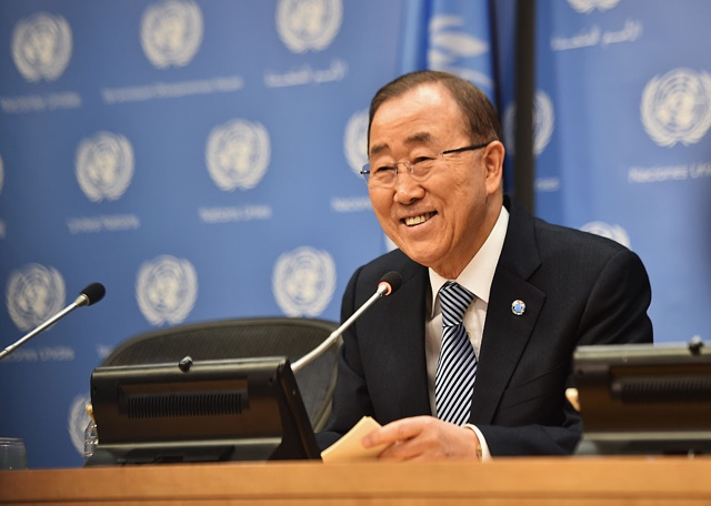 UN Secretary-General Ban Ki-Moon To Drop The Times Square Ball On New Year's Eve