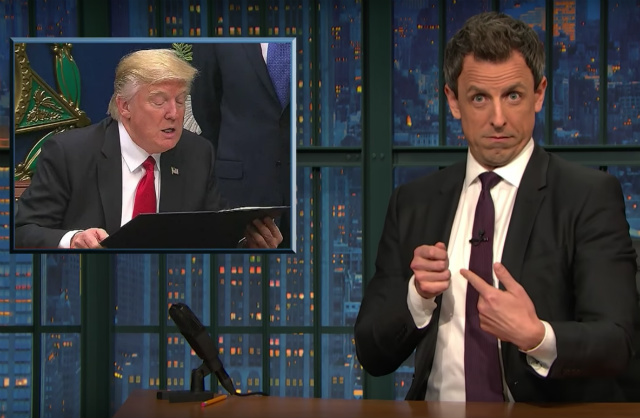 Video: Seth Meyers Takes A Closer Look At Trump's Immigration Ban