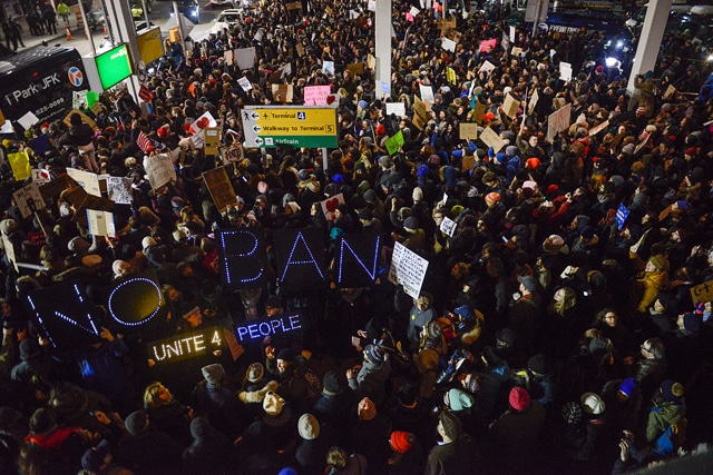 #NoBanNoWall Protest Today, Sunday, 1/29 At 2PM In Battery Park