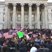 Enormous Crowd At Brooklyn Borough Hall For 'Bodega Strike' Against Trump Immigration Ban