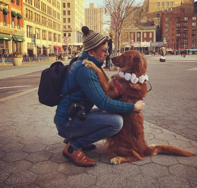 Photos: Meet The Adorable Dog Who Loves To Hug New Yorkers