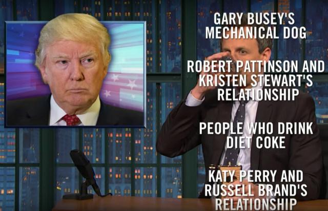 Video: Seth Meyers & Stephen Colbert On Trump's Third Week Full Of B.S.