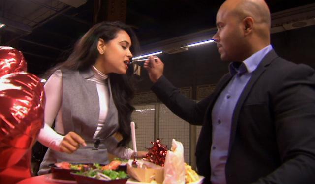 Couple Enjoys Romantic Valentine's Day Dinner Inside Union Square Subway Station