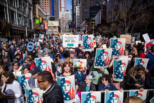 Photos: Thousands Fill Times Square To Protest Islamophobia