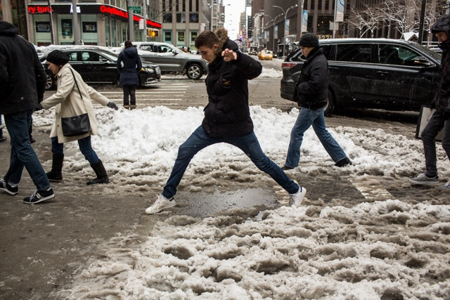 Photos: Midtown Manhattan Vs. All The Precious Snowflakes