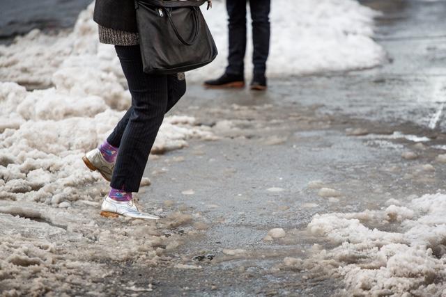 Photos: Slush Puddles Return To Haunt New Yorkers' Shoes
