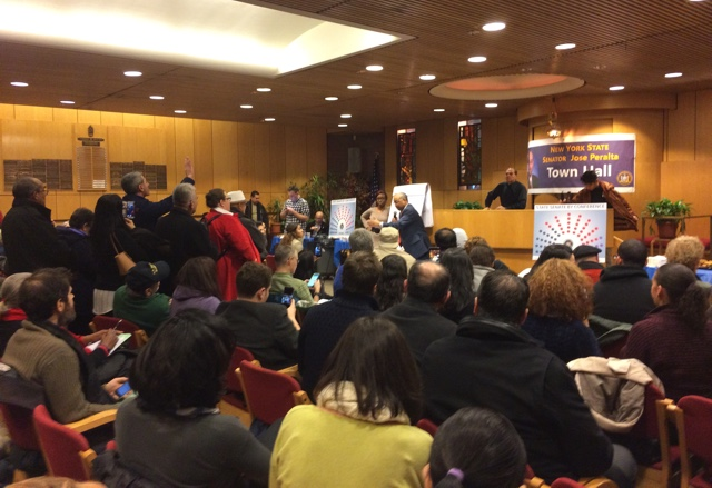 'Betrayed' Constituents Confront State Senator Peralta In Jackson Heights Over Defection To IDC