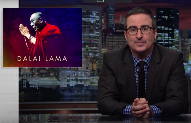 Video: John Oliver Meets The Dalai Lama & Investigates Trump's 'Stupid Watergate'