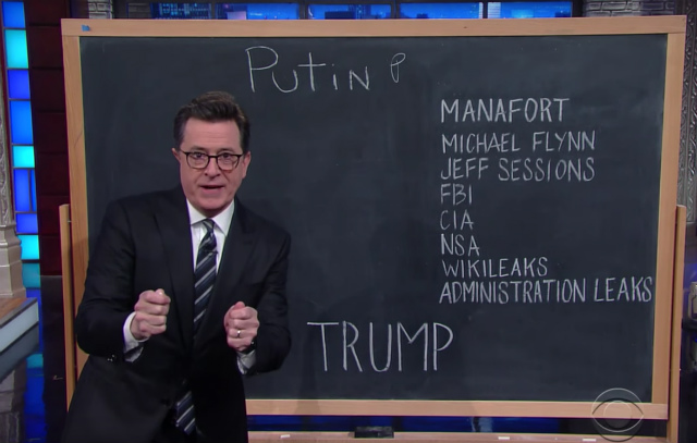 Video: Stephen Colbert Finally Makes Sense Of Trump's Relationship With Russia