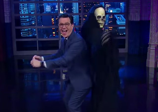 Watch Stephen Colbert Dance With The Guy Who Loves The GOP Healthcare Plan Most