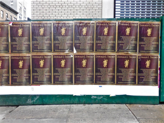 Posters Recalling Trump's Sexual Assault Monologue Appear In NYC On International Women's Day