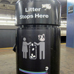 MTA...Disposes Of Pilot Program To Remove Trash Cans From Subway Platforms