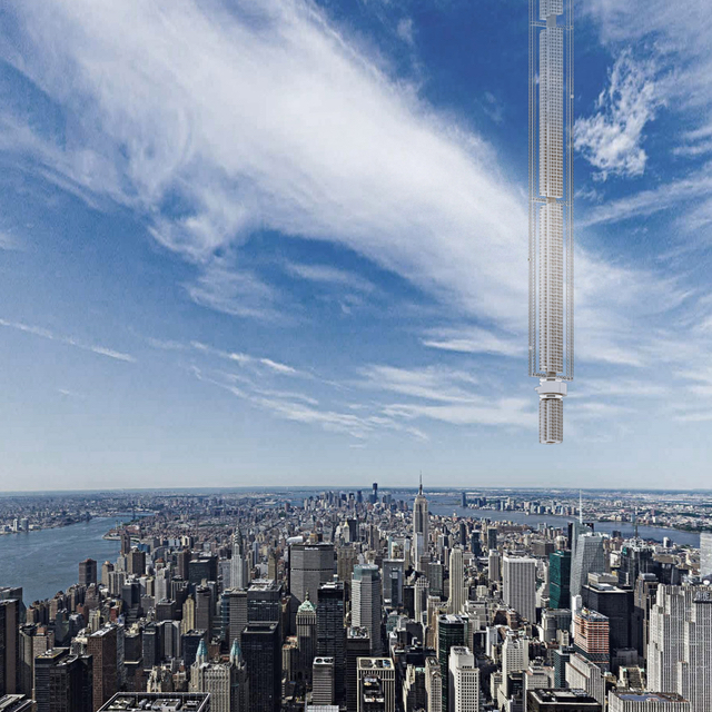 Insane Proposal Has An Apartment Building Hanging From An Asteroid Over NYC