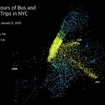 This Visualization Of All NYC Cab & Bus Rides In One Day Is Surprisingly Soothing