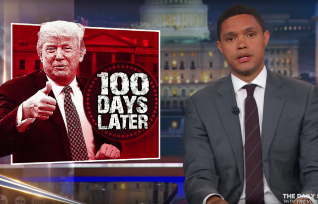 Video: Late Night Hosts Break Down Donald Trump's First 100 Days As President