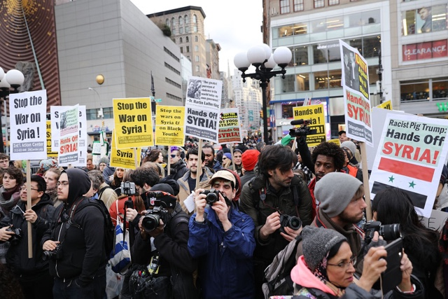 7 Arrested During NYC Protest Against Syrian Airstrikes