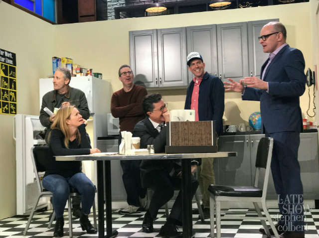 Video: Jon Stewart, John Oliver, Samantha Bee & More 'Daily Show' Alums Reunite On Colbert