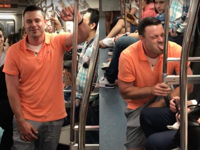 Video: Man Licks PATH Train Pole For Free Alcohol