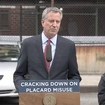 After Issuing Thousands Of New Parking Placards, De Blasio Promises Crackdown On Placard Abuse