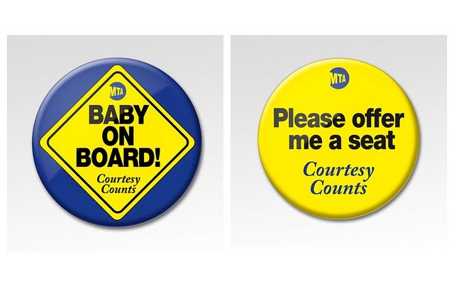 MTA Hopes 'Baby On Board' Button Will Sway Subway Riders To Give Up Seats For Pregnant Women