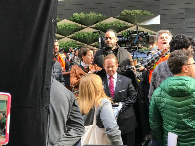 Video: Melissa McCarthy As Sean Spicer Spotted Rolling Down 58th Street