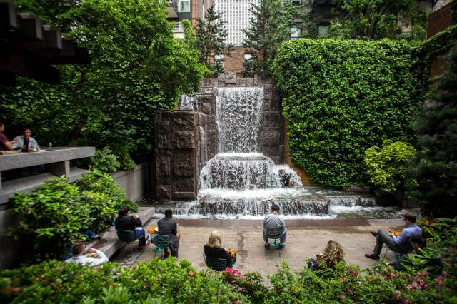 One Of NYC's Loveliest Pocket Parks Could Soon Be Plunged Into Darkness