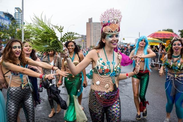 NSFW Photos: Rainy Mermaid Parade Is A Glorious, Nearly-Naked Party