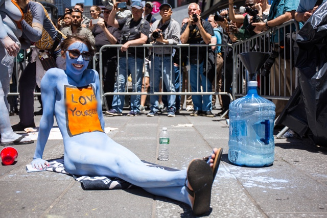 NSFW Photos: Dozens Of Totally Naked People Get Painted In Times Square