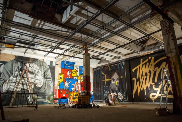 A Look Inside The Abandoned Essex Street Market, Where Hanksy Is Hosting A Weekend Art Show