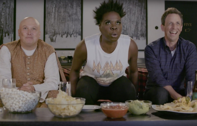 Video: Leslie Jones & Seth Meyers Have A 'Game Of Thrones' Viewing Party