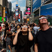 Photos: Times Square Was Packed With Eclipse Watchers