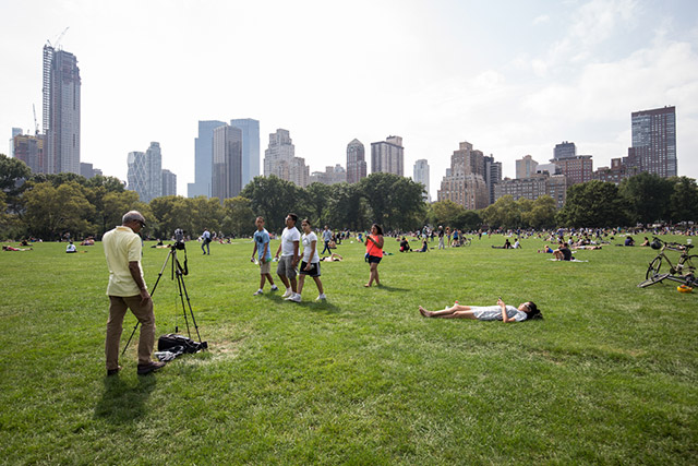 Photos: Thousands Flock To Central Park For Solar Eclipse