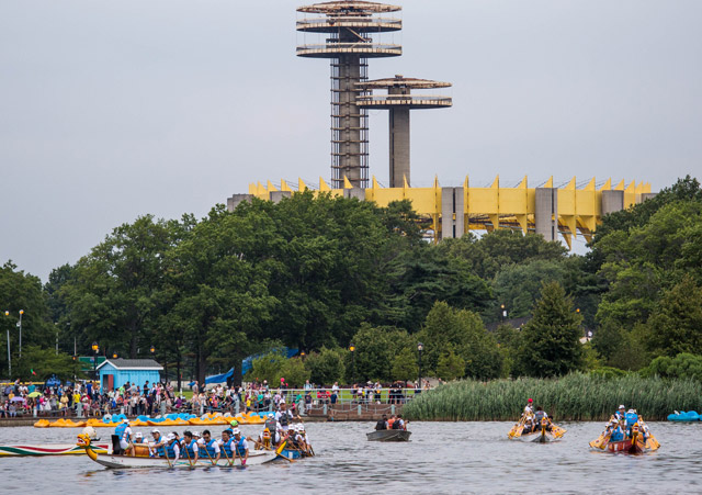Photos: Thousands Of Dragon Boat Racers Churn The Water In Queens