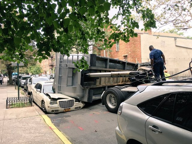 Tractor Trailer Crushes Car With Man Reportedly Inside; No Injuries