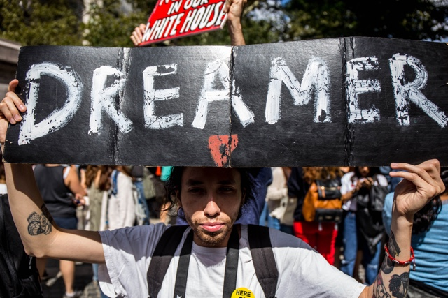Photos: Crowds Protest In Central Park Against Trump's DACA Repeal