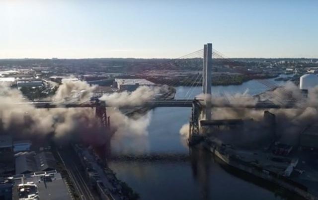 Photos, Videos: Old Kosciuszko Bridge Blown Straight To Hell