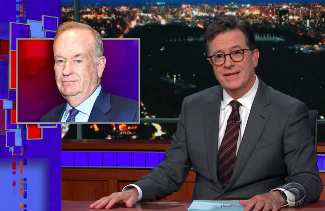 Video: Stephen Colbert Has No Sympathy For Alleged Serial Sexual Harasser Bill O'Reilly