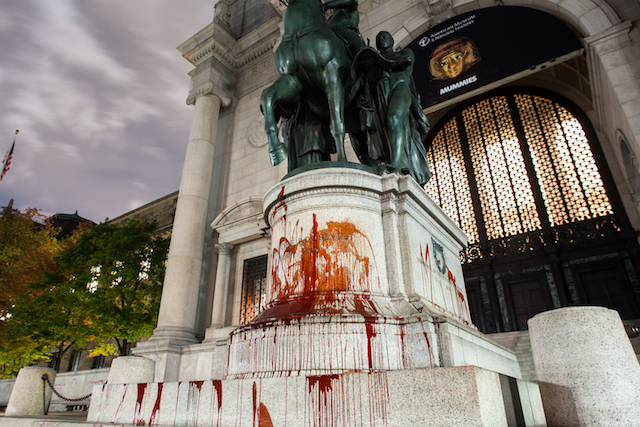 UPDATE: Teddy Roosevelt Statue At American Museum Of Natural History Vandalized With Red Paint
