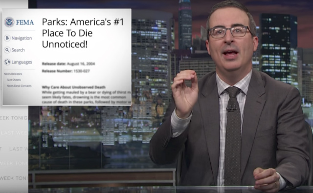 Video: John Oliver And A Talking Seagull Dive Into America's Broken Flood Insurance System