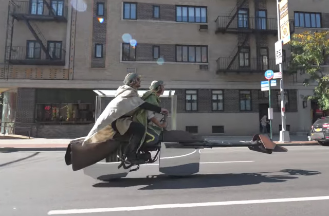 Video: Couple Zips Around City In 'Levitating' Star Wars Speeder