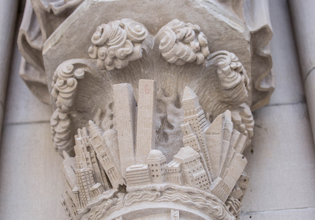 Photos: This Apocalyptic NYC Church Facade Depicts City Collapsing Beneath Giant Waves & Nuclear Explosion