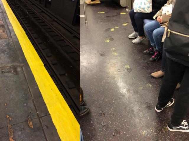 The MTA Painted A Subway Platform During Rush Hour & You'll Never Guess What Happened